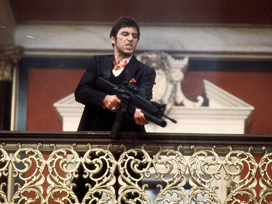 -  -Text: (GANNETT PHOTO NETWORK) Al Pacino in Scarface. (GNS Photo/Universal City Studios, Inc.)
