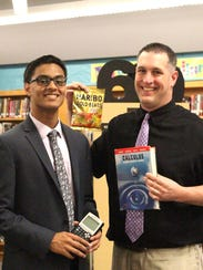 Avinash Saraiya, left, with Mentor Shane Thomas.
