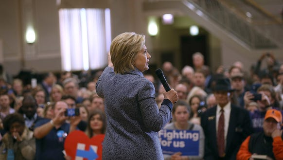 Hillary Clinton speaks at a campaign event in Chicago