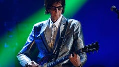 The Cars frontman Ric Ocasek performs.