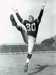 Dick Deschaine was the Green Bay Packers' first specialty player. He was a punter in 1955-57.