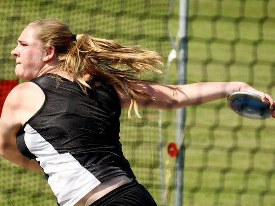 Wilson Memorial's Tara Ingersoll competes in the discus