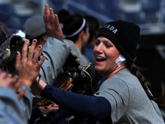 Jennifer Purcell and the Wolf Pack softball team was one of four Nevada programs to finish in the top half of the conference this season. Baseball, men's basketball and swimming and diving also accomplished that feat.