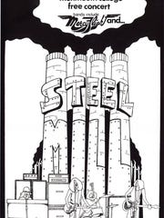 Steel Mill poster for May 1970 show at Monmouth College.