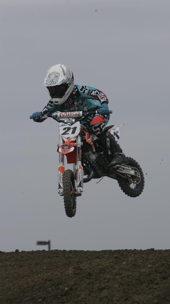 Visalia's Enzo Temmerman, 9, will be racing motocross