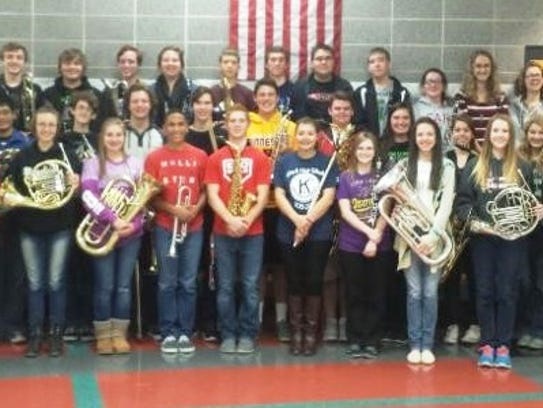 Students from the Ozark High School band recently competed