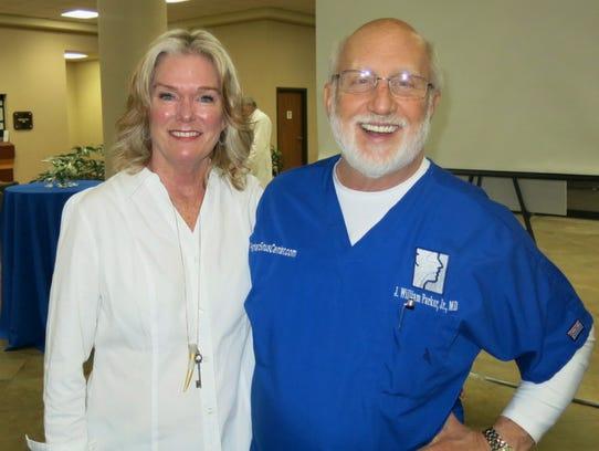 Joni and Dr. Bill Parker at Highland Clinic celebration.