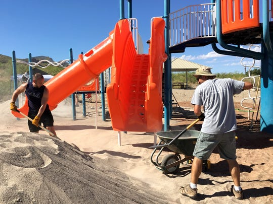 Members of this Big Give team have been working on Sundays to clean up and improve city parks.