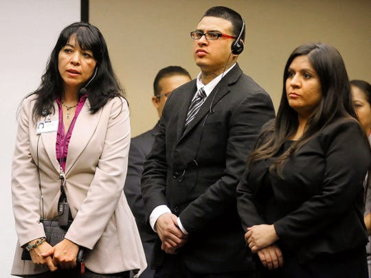 Arturo Valtierra-Payan is shown during his 2014 sexual assault trial in the 243rd District Court.