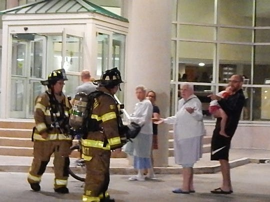Rehoboth Beach Volunteer Fire Company and assisting personnel evacuated the Atlantic Sands Hotel when a dryer caught fire in the basement.