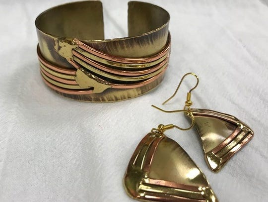 Brass jewelry 30 percent off at One World Goods in
