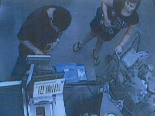 Authorities are searching for two people suspected of using a stolen debit card to make purchases throughout New Mexico.