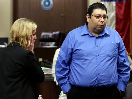 Ray Rosas talks the media after a jury acquitted him