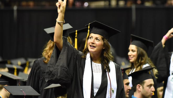 Scenes from the FSU Spring commencement ceremony at the Tucker Civic Center Friday night April 29 2016.