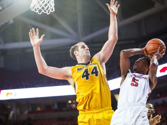NCAA Basketball: Missouri at Arkansas