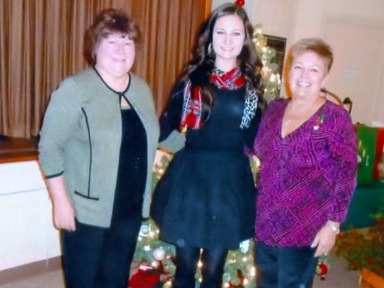 (From left) Linda Green, president of the Millville Woman's Club; Laura Schwegel, Student of the Month; and Sandy Walter, education and youth chairperson for the club.