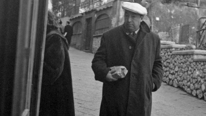 This Feb. 14, 1952 file photo shows Chilean poet Pablo Neruda in Capri, Italy.