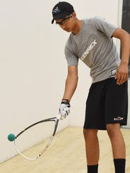 Akul Ramayani, 15, pictured practicing at Gold's Gym