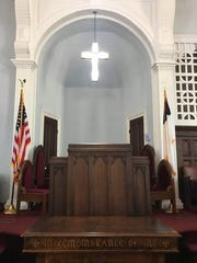 The inside of Dexter Ave King Memorial Baptist Church