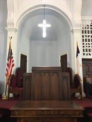 The inside of Dexter Ave King Memorial Baptist Church