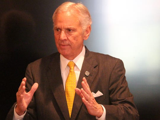 South Carolina Gov. Henry McMaster speaks Friday to the Greenville County Republican Women's Club at the Poinsett Club in Greenville