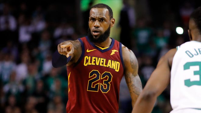 LeBron James is averaging 33.4 points, 9.2 assists and 9.2 rebounds a game this postseason.