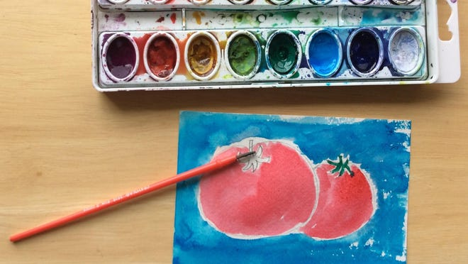 Create postcards by drawing your favorite summer produce, a pretty mountain or beach scene and use watercolors to color them in.