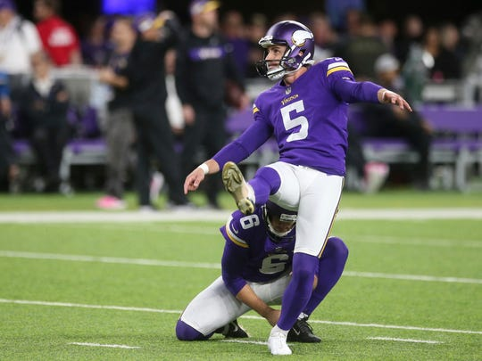 Vikings kicker Dan Bailey made his name with clutch field goals for the Dallas Cowboys.
