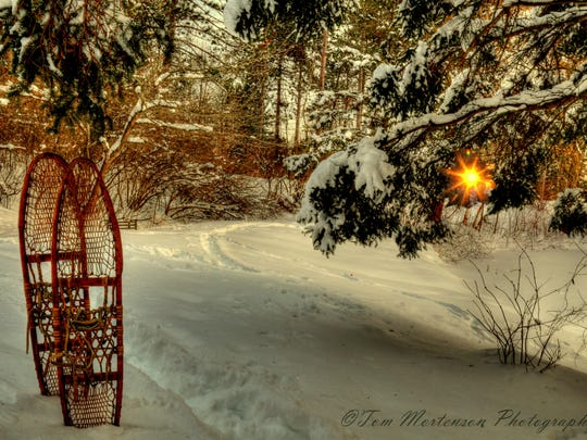 A snow-covered trail at Monk Gardens on Wausau's north side. Submitted by Tom Mortenson