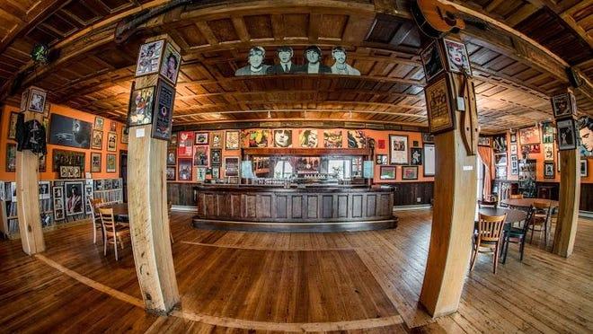 The new Tap Room and museum at The Falcon in Marlboro.