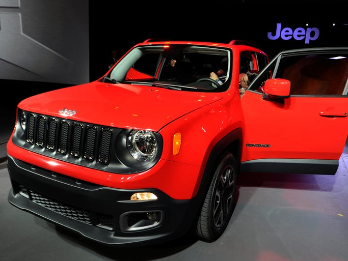2015 Jeep Renegade on display at New York International Auto Show.