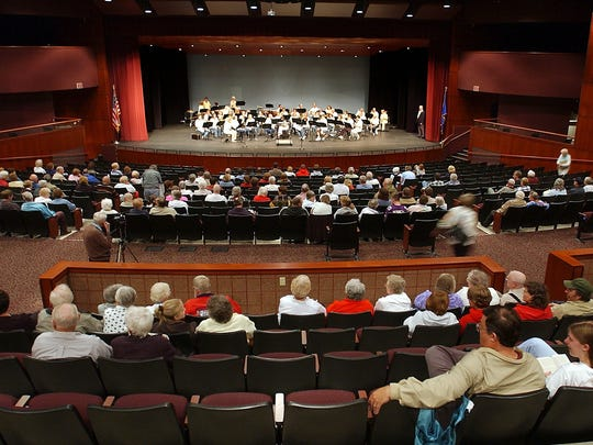 The Wisconsin Rapids City Band performs at the Performing Arts Center in Wisconsin Rapids.