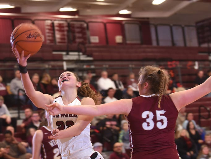 Newark sophomore Gabby Stare shoots for two against