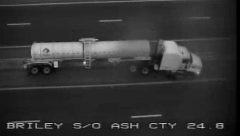 A crash involving a tanker has shut down Briley Parkway south of Ashland City Highway Tuesday, Feb. 14, 2017
