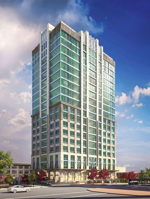 This rendering shows what The Arras hotel/condominium