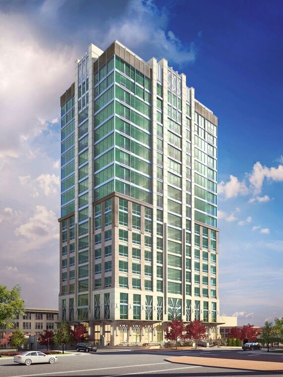 This rendering shows what The Arras hotel/condominium