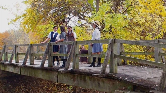 """The cast of """"Spring Awakening"""" films a scene from the movie."""