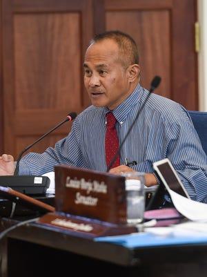 Sen. James Espaldon during a session at the Guam Congress Building in Hagåtña on Nov. 28, 2017.