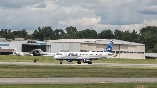 JetBlue is the busiest airline at New York Stewart International Airport.