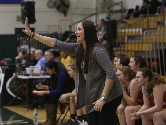 Somers girls basketball head coach Kristi Dini calls