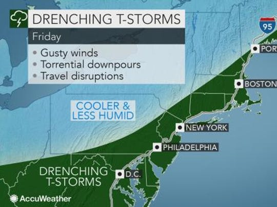Storms could last through Friday afternoon in the Lower