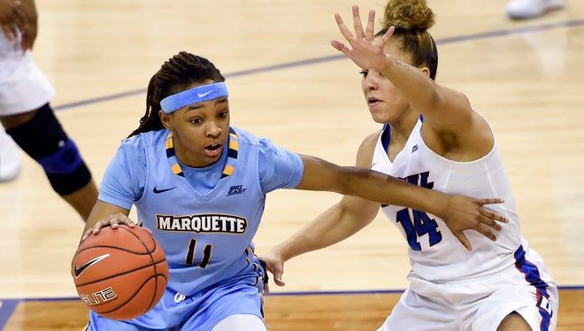 Marquette's Allazia Blockton led the Big East in scoring last season.