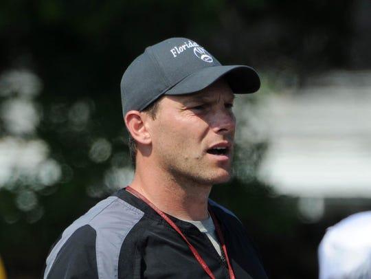 Florida Tech football coach Steve Englehart is happy