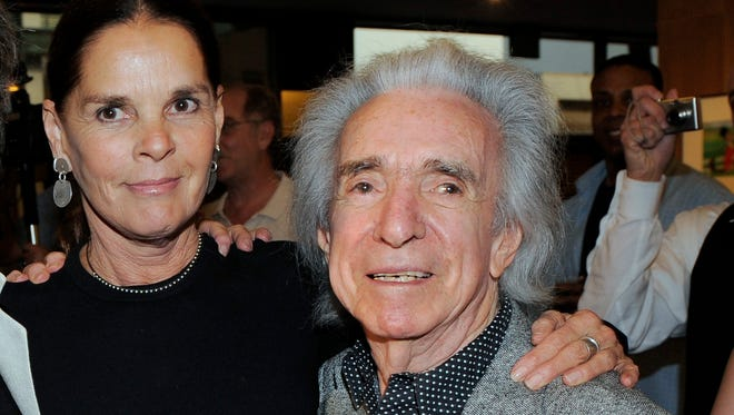 """FILE - In this May 22, 2008 file photo, actress Ali MacGraw and director Arthur Hiller appear at an event honoring former Paramount Studios chief Robert Evans at the Academy of Motion Picture Arts and Sciences in Beverly Hills, Calif. Hiller, who received an Oscar nomination for directing the romantic tragedy """"Love Story"""" during a career that spanned dozens of popular movies and TV shows,"""" died Wednesday, Aug. 17, 2016, of natural causes. He was 92."""