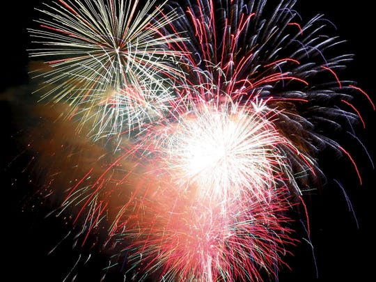 In this 2014 file photo, fireworks are on full display