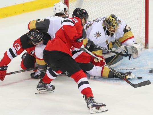 NHL: Vegas Golden Knights at New Jersey Devils
