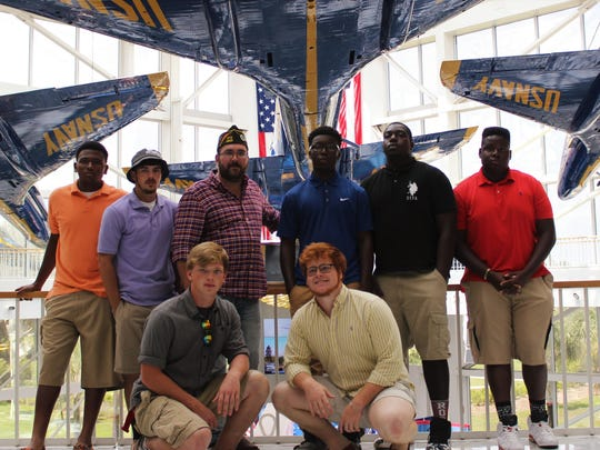 The Veterans of Foreign Wars Post 4833 in Milton recently hosted football team seniors from Vidalia High School in Louisiana. The VFW, with the help of the boys' coach and principal, created a four-day experience to show new opportunities to the young men.