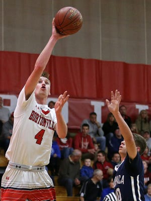 Hortonville's Ryan Krueger (4) is scheduled to play in the Fox Valley Association All-Star Classic on Sunday night in Kaukauna.