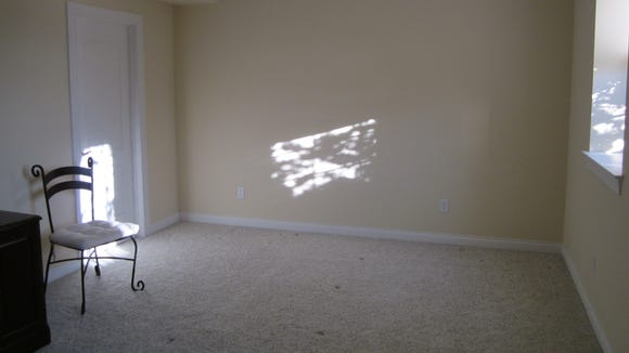 "A ""before"" view of the room, awaiting the decorator's touch."