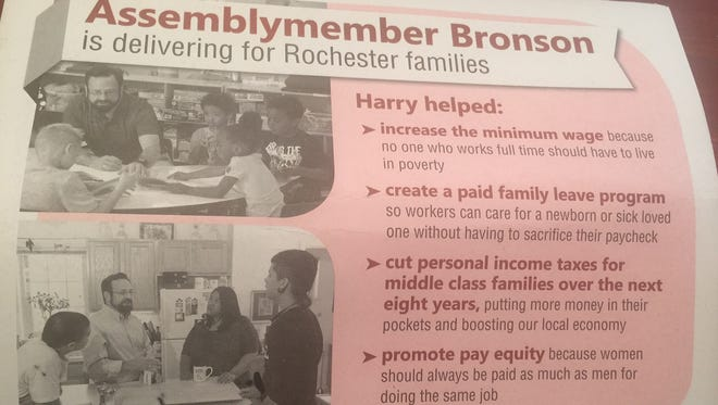 A flyer from Assemblyman Harry Bronson.